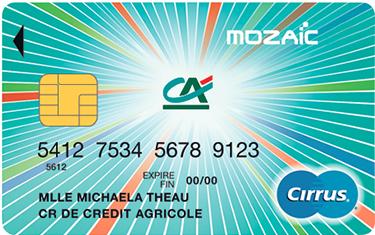 Cr dit agricole centre france detail cartes carte mozaic retrait - Plafond retrait carte pass mastercard ...